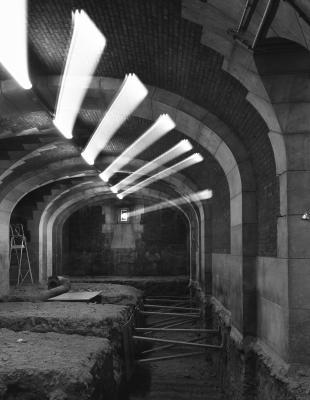 2: Travaux pour la création d'un niveau technique sous le sous-sol existant © Geoffroy Ménabréa