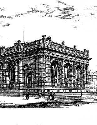 Gravure, le Palais Galliera, début XXe s. - Photo : © Archives de Paris