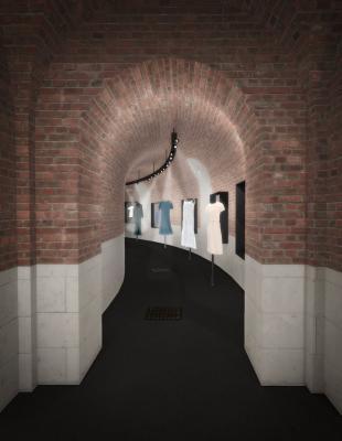 4: Plan de coupe de la galerie courbe © Sandra Courtine pour CIEL architectes