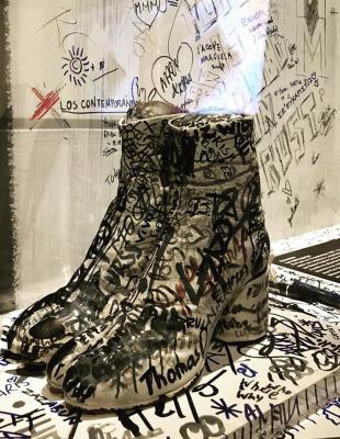 5: Paire de Tabis présentée à l'exposition Margiela / Galliera 1989-2009