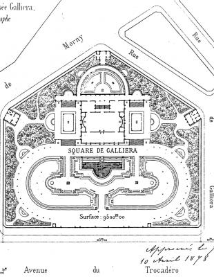 Plan du Palais Galliera signé de la main de la duchesse - Photo : © Archives de Paris