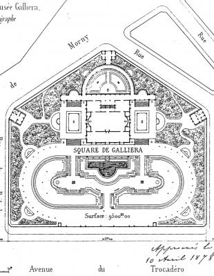 1: View of the Palais' plan