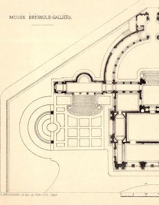 Plan du Musée Brignole-Galliera, actuel Palais Galliera, début XXe s. - Photo : © Archives de Paris