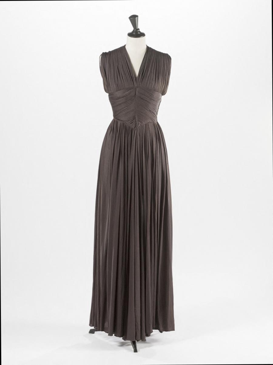 robe du soir gr s palais galliera mus e de la mode de la ville de paris. Black Bedroom Furniture Sets. Home Design Ideas