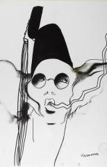 """""""Mannequin portant un chapeau de Stephen Jones pour Jean Paul Gaultier, 1984"""" par Tony Viramontes © Tony Viramontes"""