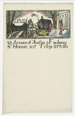 View of the headed notepaper for the Maison Poiret