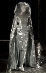 View of the evening ensemble Thierry Mugler