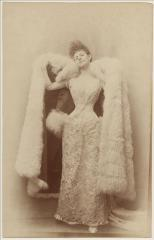 View of the countess Greffulhe wearing a ball dress