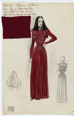 View of a drawing for the winter collection, Maison Grès