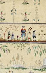 View of a waistcoat embroidery cartoon