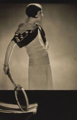 Lucien Lelong Tennis set with polka dot scarf, by Egidio Scaioni