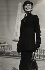 """Schiaparelli ensemble, Place de la Concorde, Paris"", by Jean Moral © Jean Moral"