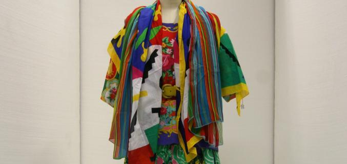 Ensemble with T-shirt, double belts, scarves, skirt and petticoats, Spring-Summer 1988, Palais Galliera collection © Paris Musées, Palais Galliera
