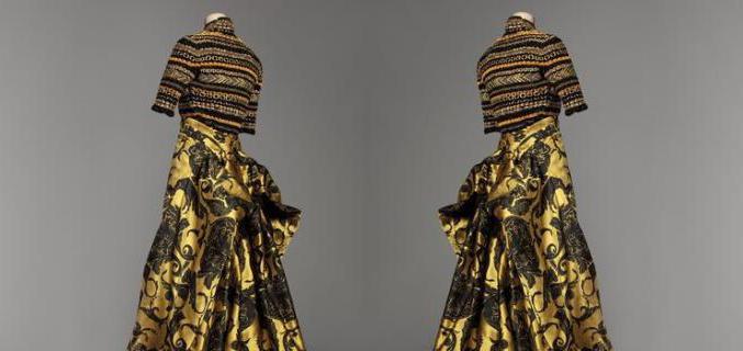 """Christian Lacroix, ensemble du soir """"Coup de roulis"""" haute couture A/H 1991-1992, collection Palais Galliera - © Katerina Jebb / Galliera"""
