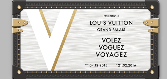 "Affiche de l'exposition ""Volez, Voguez, Voyagez – Louis Vuitton"" - Photo : © Grand Palais-Rmn / © Louis Vuitton"