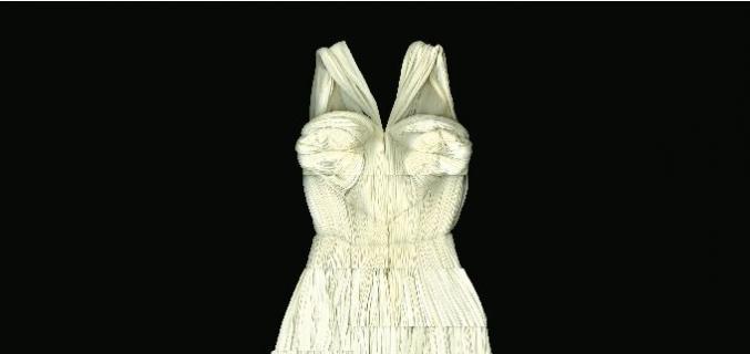 Affiche de l'exposition Madame Grès, la couture à l'œuvre