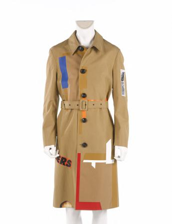 Trench coat and belt, Raf Simons in collaboration with Sterling Ruby