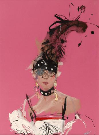 Portrait d'Anna Piaggi, David Downton