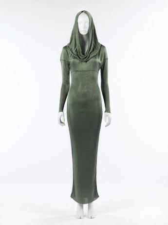Hooded evening gown, Alaïa © Françoise Cochennec / Galliera / Roger-Viollet
