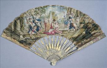 View of the folding fan, 'The Rape of the Sabines'