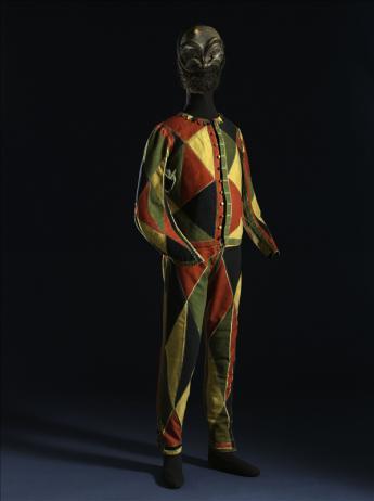 vue du costume d'Arlequin
