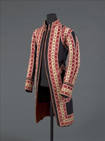 View of the dress coat bearing the livery of the King of France