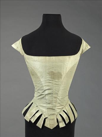 View of bodice said to have belonged to Marie Antoinette