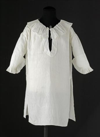 View of the chemise worn by Louis XVII