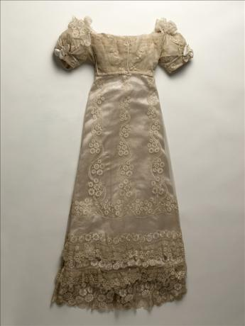 View of the Princesse d'Essling's wedding gown