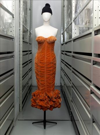 View of the 'Bombshell Breasts' dress, Jean Paul Gaultier