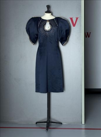 vue de la robe du soir, Chloé par Karl Lagerfeld