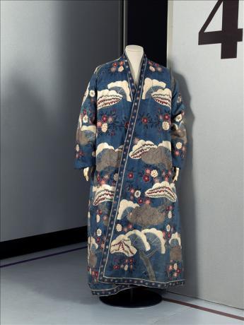 vue de la robe de chambre d'homme