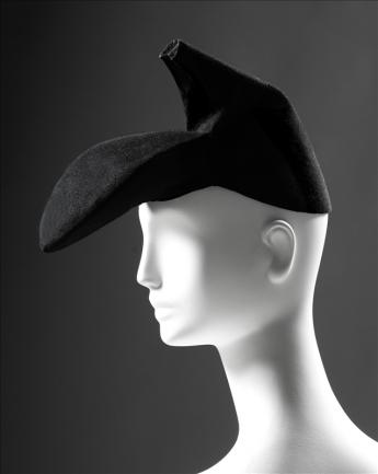 View of the Shoe hat, Schiaparelli