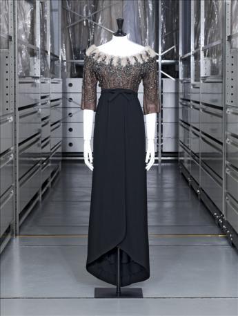 vue de la robe du soir, Balenciaga