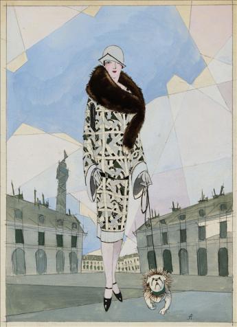 """Etude pour """"Vogue"""", Jean Pagès © Galliera / Roger-Viollet"""