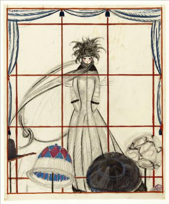 View of through the Milliner's Window, Georges Lepape