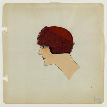 Draft for the 'Porcupine' bonnet, Madeleine Panizon