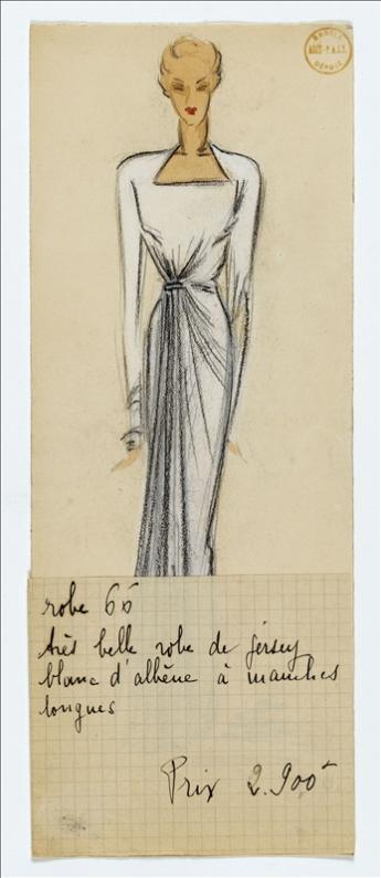vue d'un dessin de collection, maison Alix