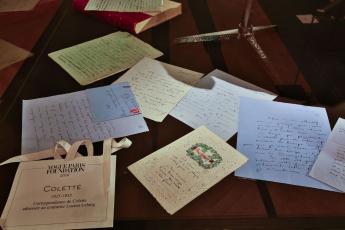 Colette's correspondence addressed to Lucien Lelong © jerusalmi /Vogue Paris Foundation 2017