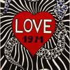 "Yves Saint Laurent ""LOVE 1971"" card © Galliera / Roger-Viollet"